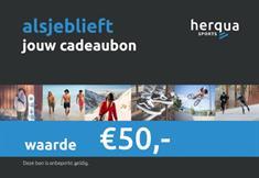 Herqua Cadeaubon 50euro cadeaubonnen blauw
