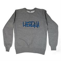 Herqua Herqua Logo Crew heren sweater midden grijs