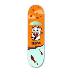 Herqua Teamdeck 8.0 skateboard oranje