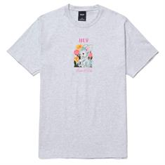 HUF Born To Die heren shirt midden grijs