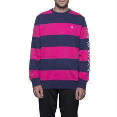 Huf Catalina Stripe Crew heren sweater fuchsia