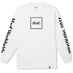 Huf Domestic Longsleeve heren shirt wit