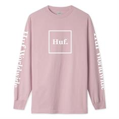 HUF Essential domestic L/s Tee heren sweater koraal