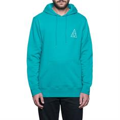 HUF Essential Hoodie heren sweater aqua-azur