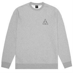 HUF Essential TT Crew heren sweater midden grijs