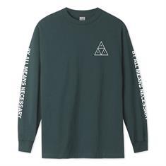 HUF Essentials Longsleeve Tee heren sweater groen
