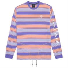 Huf Essex l/s knit top heren sweater kobalt