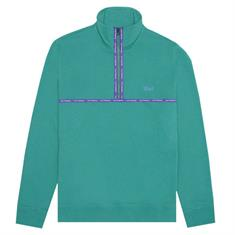 HUF Midtown 1/2 zip flc heren sweater jade