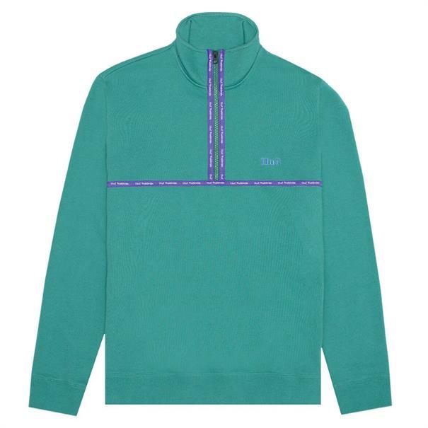 HUF Midtown 1/2 zip flc heren sweater jade