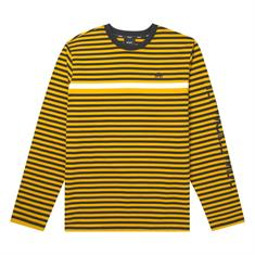 HUF Morris L/S Knit heren sweater oker