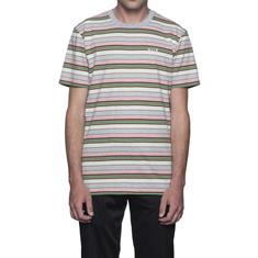 HUF Off Shore Stripe heren shirt rose