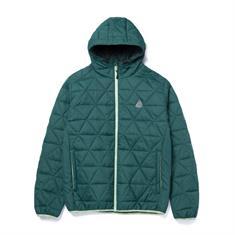 HUF Polygon Quilted Jacket heren skate zomerjas jade