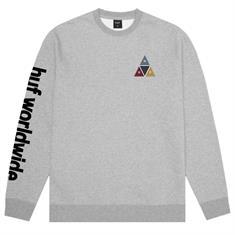 HUF Prism Crew heren sweater midden grijs