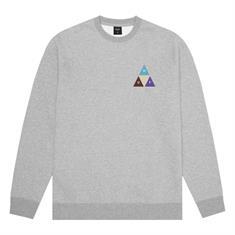 HUF Prism Trail Crewneck heren sweater midden grijs