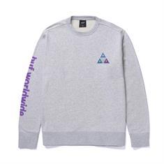 HUF Prism TT Crew heren sweater midden grijs