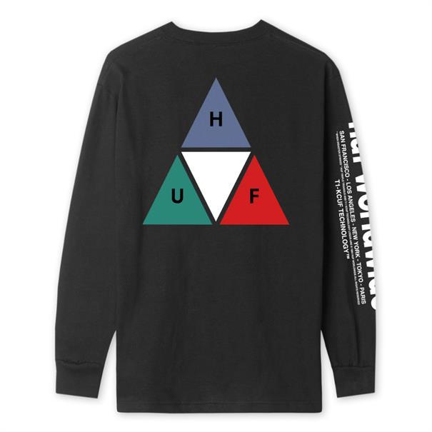 HUF Prism TT Ls heren sweater zwart