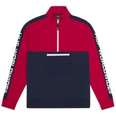 HUF Tribeca Quater Zip Fleece heren sweater marine