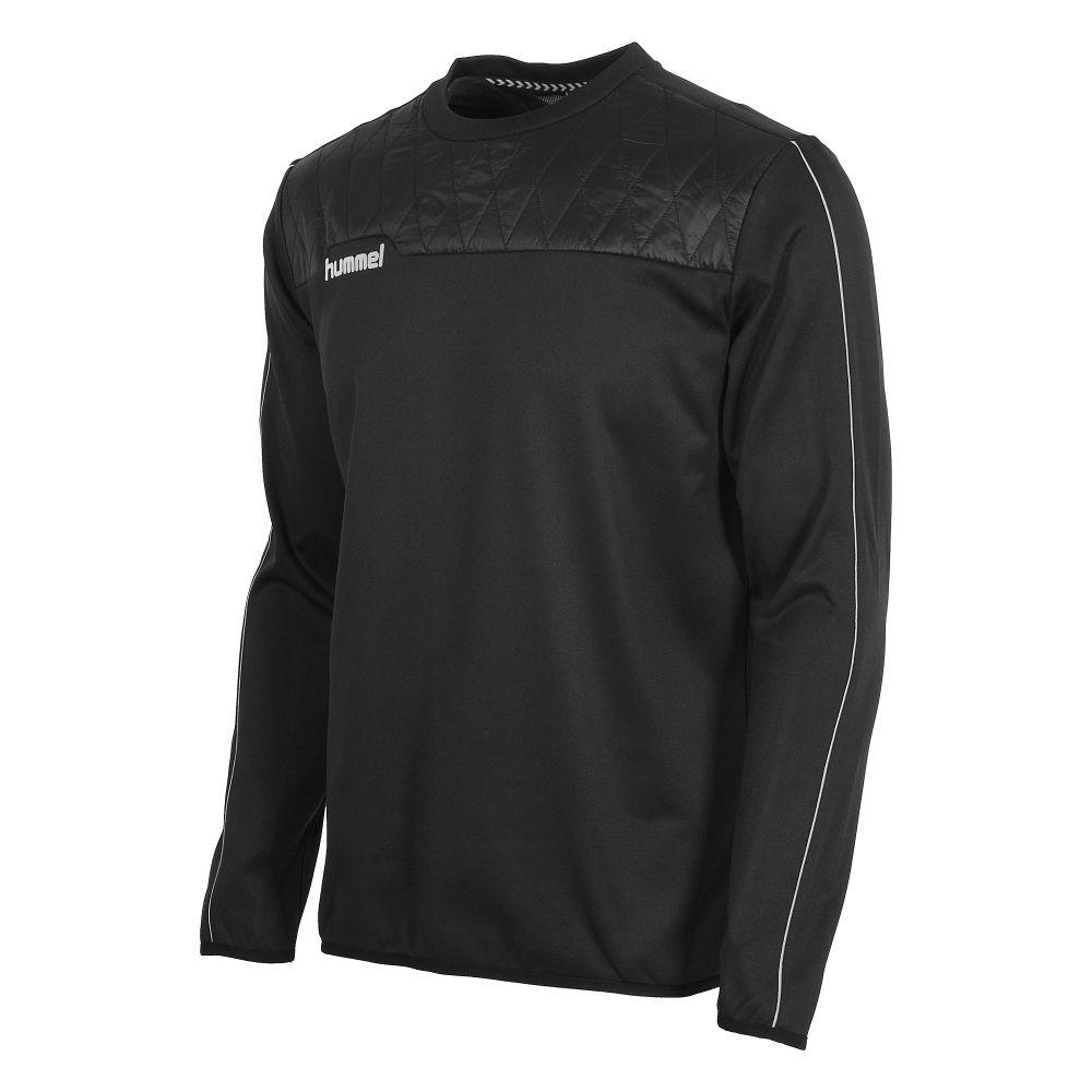 Hummel authentic noir crewneckzwarte voetbalsweater van hummel. de sweater voelt comfortabel aan op de huid ...