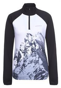Ice Peak Finley dames ski pulli met rits zwart dessin