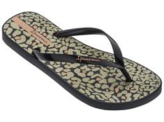 Ipanema Animal Print dames slippers zwart