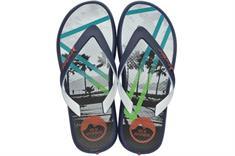 Ipanema Rider Energy Kids jongens slippers blauw dessin