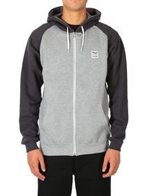 Irie daily De College Zip Hood heren sweater antraciet