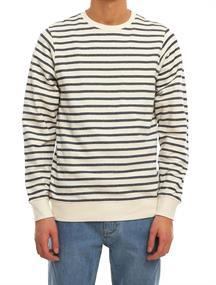 Irie daily Easy Stripe Crew heren sweater ecru