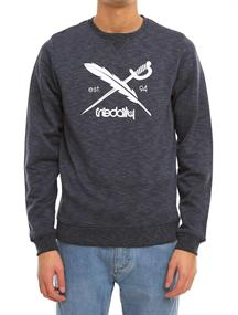 Irie daily Slub logo Crew heren sweater blauw dessin