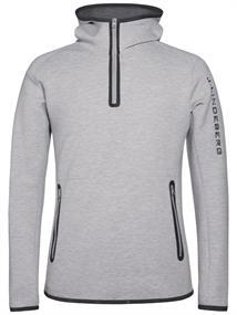 J Lindeberg Logo Hood Tech heren ski pulli antraciet
