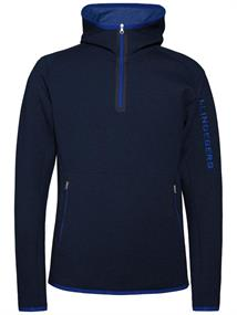 J Lindeberg Logo Hood Tech heren ski pulli marine