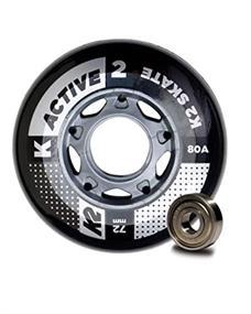 K2 72MM 8 Wheel Pack incl. Lagers wielen midden grijs