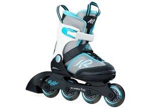 K2 Cadense JR. 29/34 32/37 Verstelbaar mee groei model inline skates / skeelers midden grijs