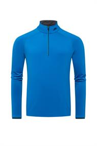 Kjus Feel Midlayer Half-Zip arumba blue heren ski pulli blauw