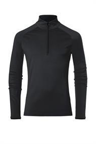 Kjus Feel Midlayer Half-Zip black heren ski pulli zwart
