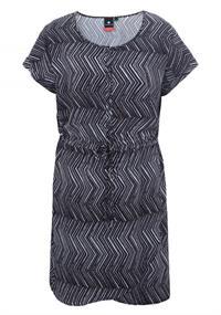 Luhta Ahveninen dames jurk casual zwart dessin