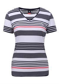 Luhta Armila dames shirt taupe dessin
