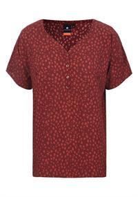 Luhta Auvais dames blouse rood dessin