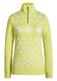 Luhta Ernholm dames ski pulli met rits geel
