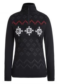 Luhta Ernholm dames ski pulli met rits zwart
