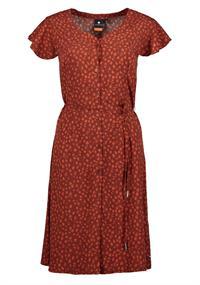 Luhta Haarajoki dames jurk casual rood dessin