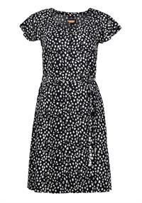 Luhta Haarajoki dames jurk casual zwart dessin