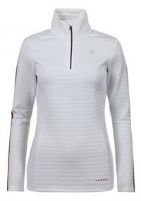 Luhta Velma dames ski pulli met rits wit