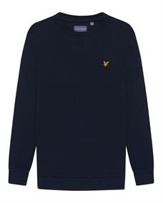 Lyle and Scott Back Print Crew Midlayer heren casual sweater marine