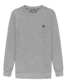 Lyle and Scott Back Print Crew Midlayer heren casual sweater midden grijs