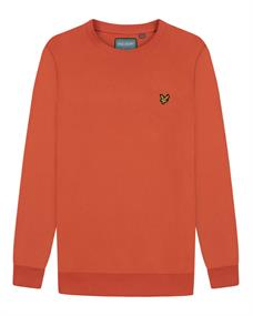 Lyle and Scott Back Print Crew Midlayer heren casual sweater oranje