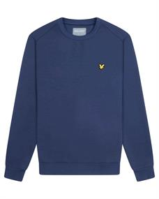 Lyle and Scott Crew Neck Fly Fleece heren casual sweater marine