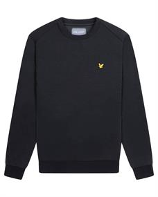 Lyle and Scott Crew Neck Fly Fleece heren casual sweater zwart
