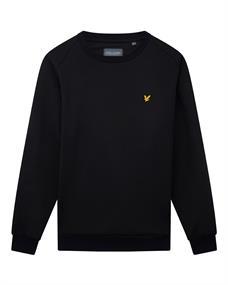 Lyle and Scott Crew Neck Fly Fleece heren casual sweater zwart