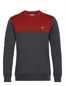 Lyle and Scott Crew Tech Sweater heren casual sweater antraciet