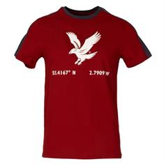Lyle and Scott Eagle T-shirt heren shirt rood